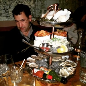 Seafood tower at Garde Manger. Mmmm Read more ›
