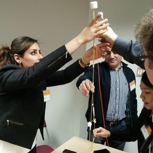 Running the Marshmallow Challenge with instructional designers to demonstrate the…