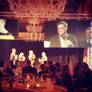 Marty O'Donnell picks up the Pulcinella award at Cartoons on…